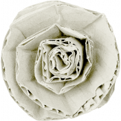 Reflections of Strength- White Cardboard Flower