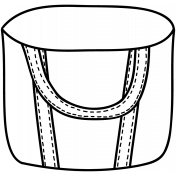 Bag Doodle Template 002
