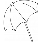 Umbrella Doodle Template 002