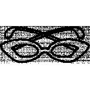 Sunglasses Doodle Template 001
