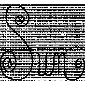Sun Word Art Doodle Template 001