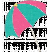 Summer Splash- Pink & Teal Umbrella