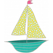 Summer Splash- Boat Doodle