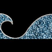 Summer Splash- Blue Wave Doodle