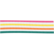 Summer Splash- Striped Ribbon
