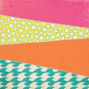 Summer Splash- Diagonal Patchwork Paper