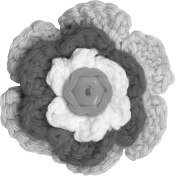 Crochet Flower Template 003