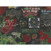 Strawberry Fields- Journal Card 24