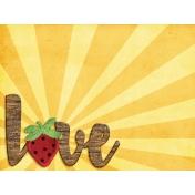 Strawberry Fields- Journal Card 26