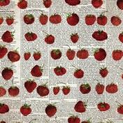 Strawberry Fields- Newsprint 3 Paper