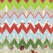 Strawberry Fields- Colorful Chevron Paper