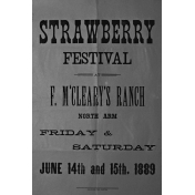 Strawberry Festival Sign Template