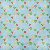 Strawberry Fields- Blue Paper With Strawberries