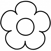 Flower Doodle Template 028