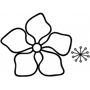 Flower Doodle Template 029