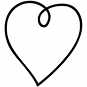 Heart Doodle Template 017