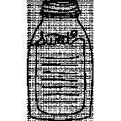 Bottle Doodle Template 002