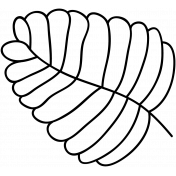 Leaf Doodle Template 010