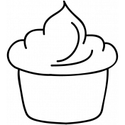Cupcake Doodle Template 001