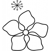 Flower Doodle Template 030