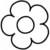 Flower Doodle Template 031