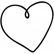 Heart Doodle Template 018