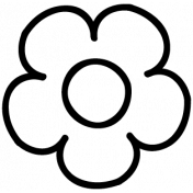 Flower Doodle Template 033