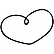 Heart Doodle Template 019
