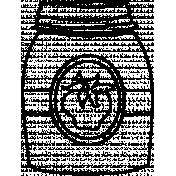 Bottle Doodle Template 005