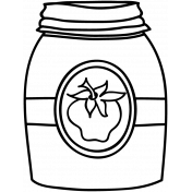 Jar Doodle Template 004