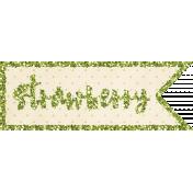 Strawberry Fields- Strawberry Word Art