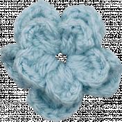 Strawberry Fields- Blue Crochet Flower