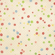 Strawberry Fields- Cream Flower Paper