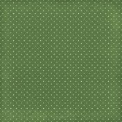 Strawberry Fields- Dark Green Dots Paper