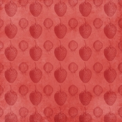 Strawberry Fields- Red Strawberry Stamp Paper