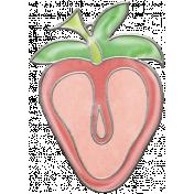 Strawberry Fields- Glossy Strawberry Charm