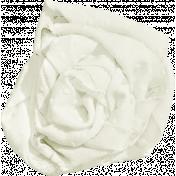 Strawberry Fields- White Fabric Flower