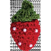 Strawberry Fields- Red & Green Crochet Strawberry