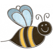 Strawberry Fields - Bee Doodle Charm