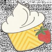 Strawberry Fields- Cupcake Doodle Charm
