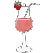 Strawberry Fields- Drink Doodle Charm
