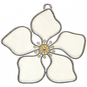 Strawberry Fields- Flower Doodle Charm 05