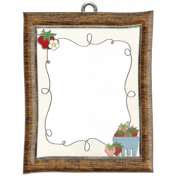 Strawberry Fields- Frame Doodle Charm 02