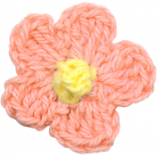 Strawberry Fields- Pink Crochet Flower