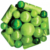 Strawberry Fields- Green Bead Cluster