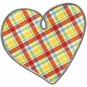 Strawberry Fields- Plaid Heart Doodle