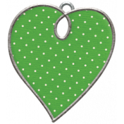 Strawberry Fields- Heart Doodle Charm 01