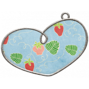 Strawberry Fields- Heart Doodle Charm 03