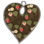 Strawberry Fields- Heart Doodle Charm 04