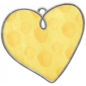Strawberry Fields- Heart Doodle Charm 05